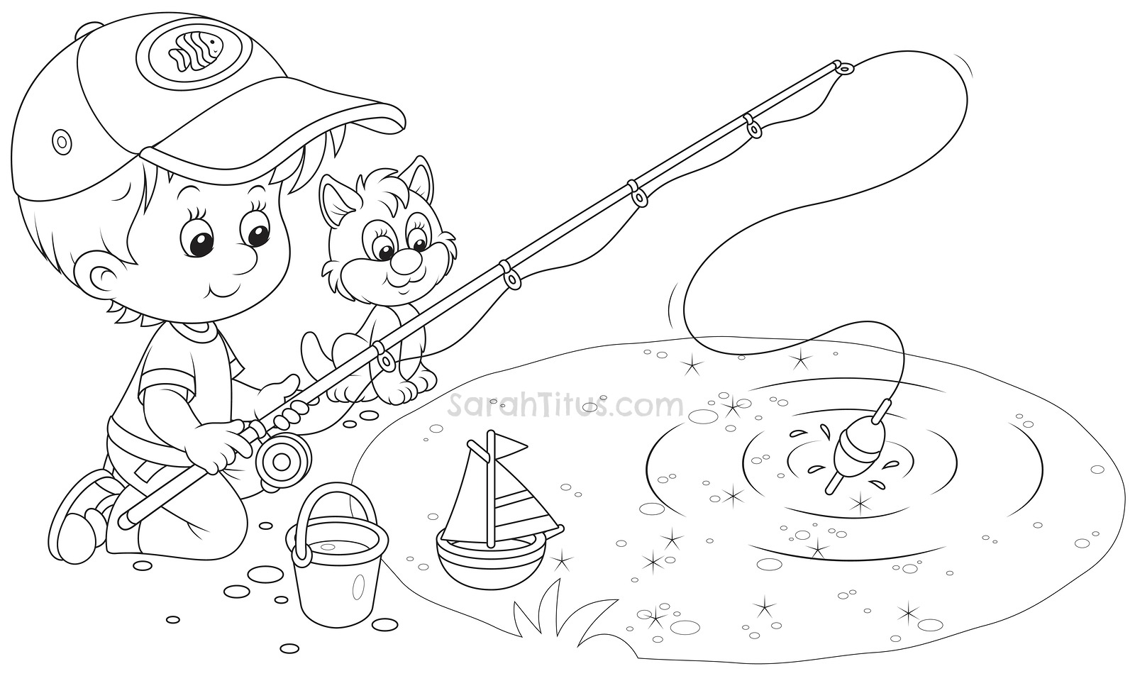 Water Pond Coloring Pages Coloring Pages