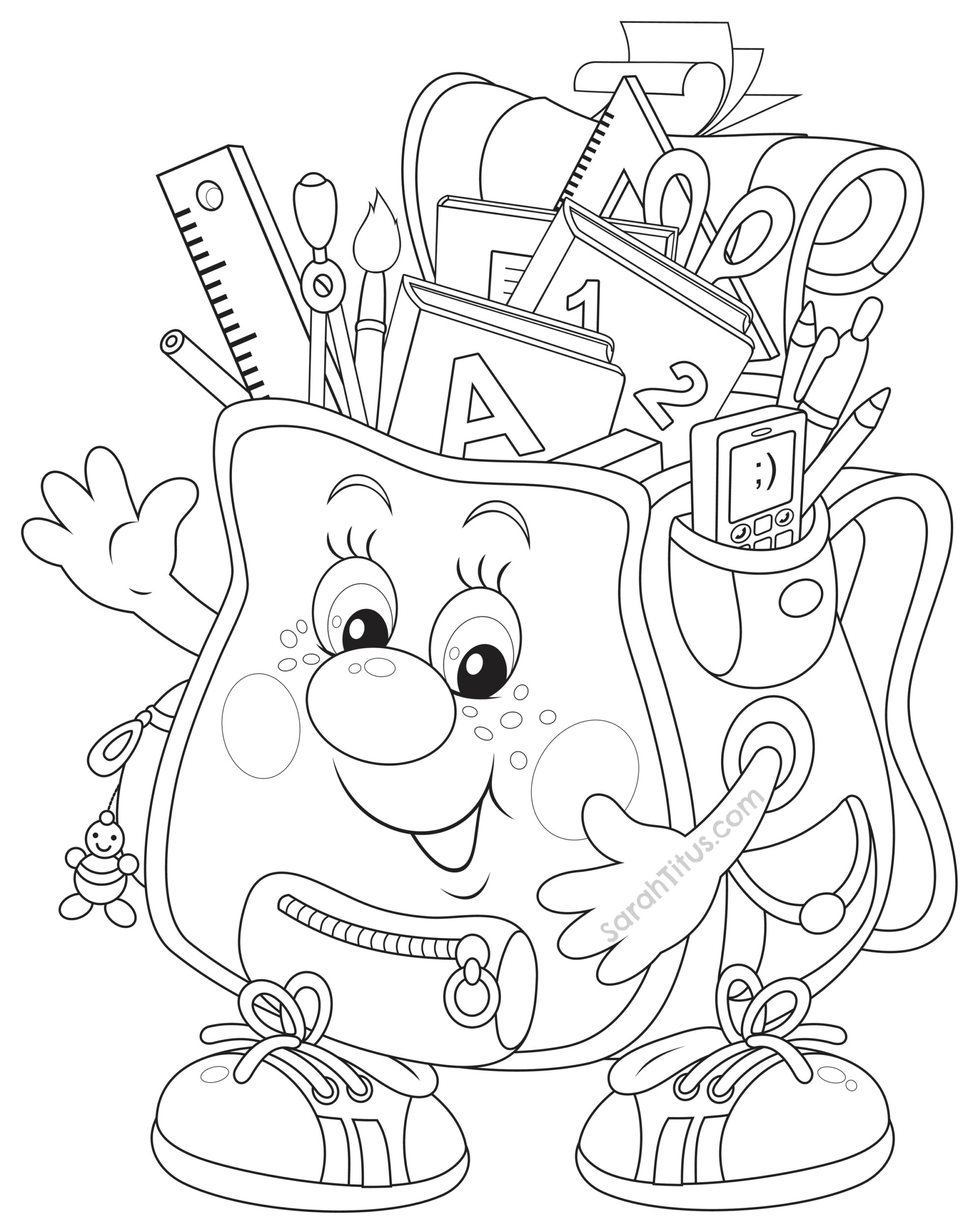 Back To School Coloring Pages Sarah Titus