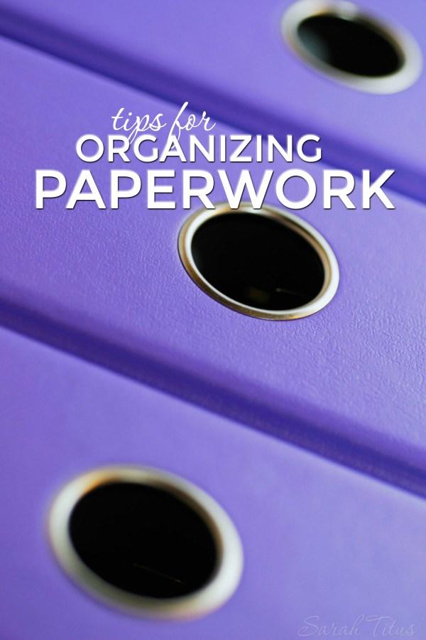 Idea Organizing Paperwork
