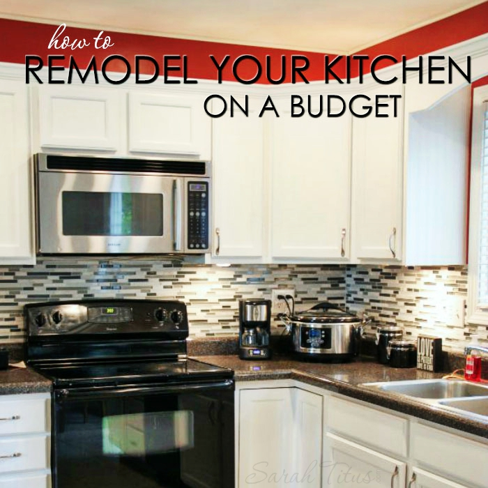 kitchen on a budget black cart how to remodel your sarah titus most renovations are very expensive but this trick can make look brand