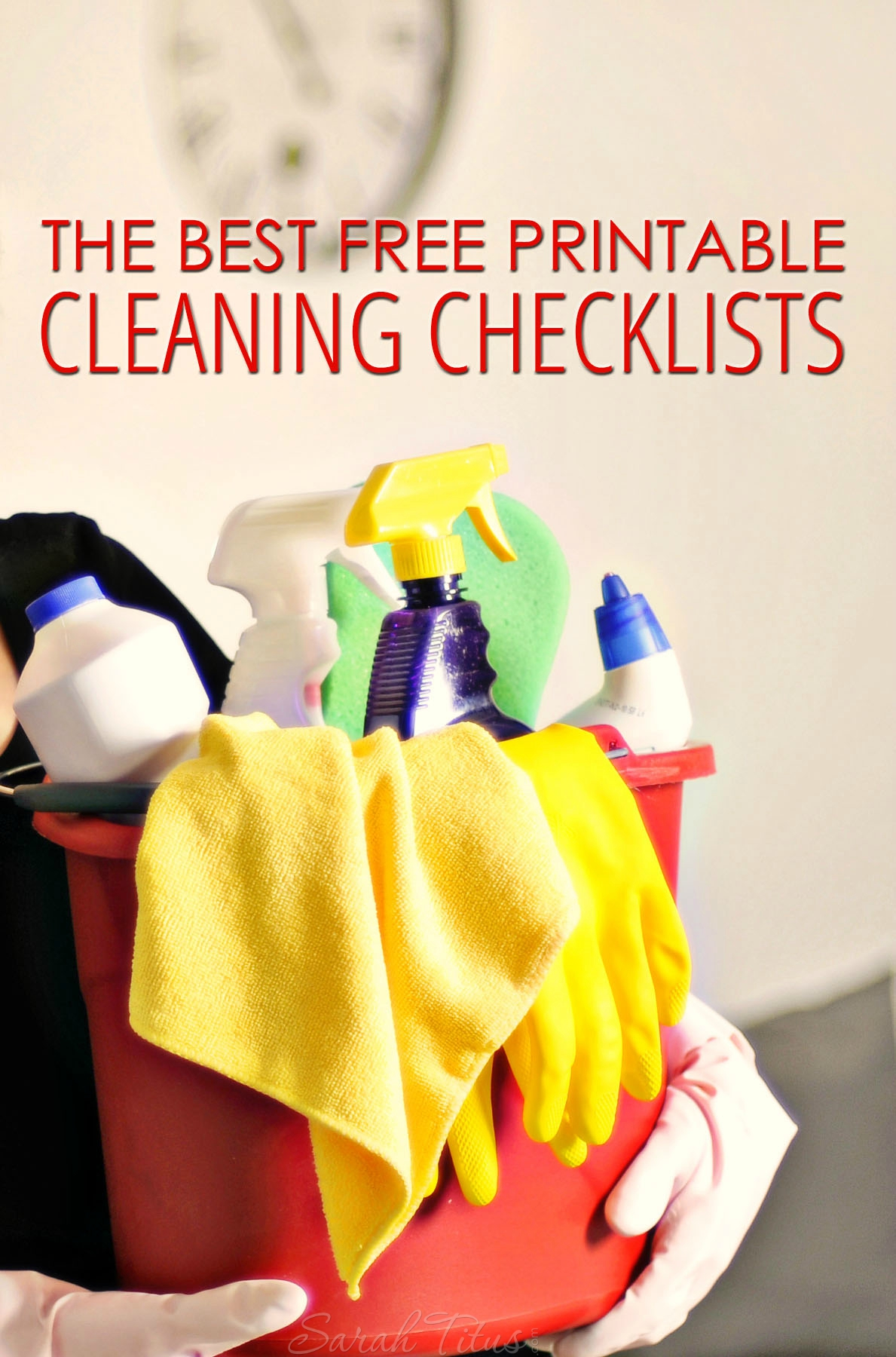 When cleaning, I just want to get in and out, so having a checklist is most helpful. Depending on how YOUR brain works, here are the best 10 free printable cleaning checklists I found online!