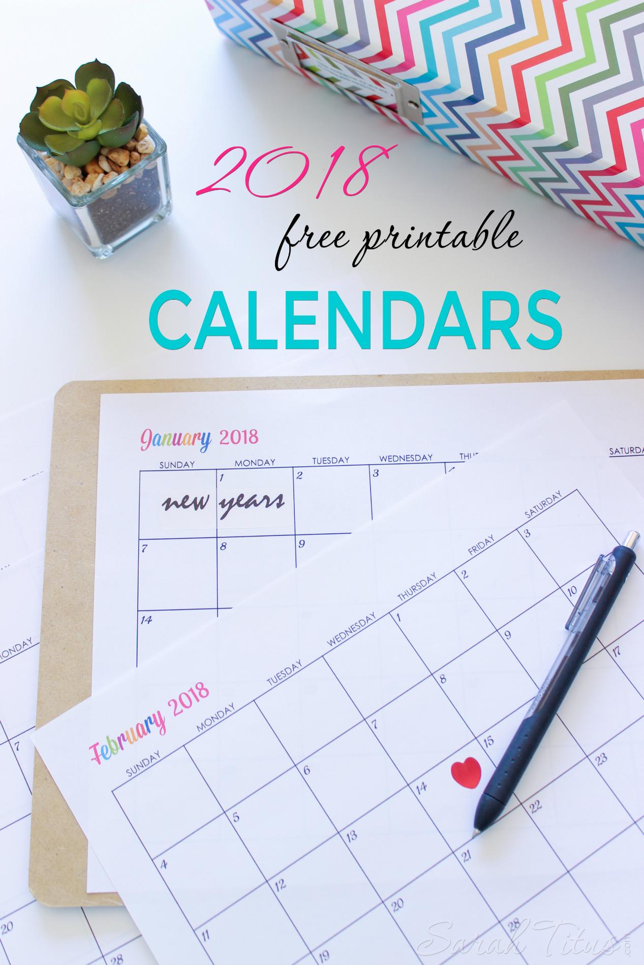 Custom Editable Free Printable Calendars
