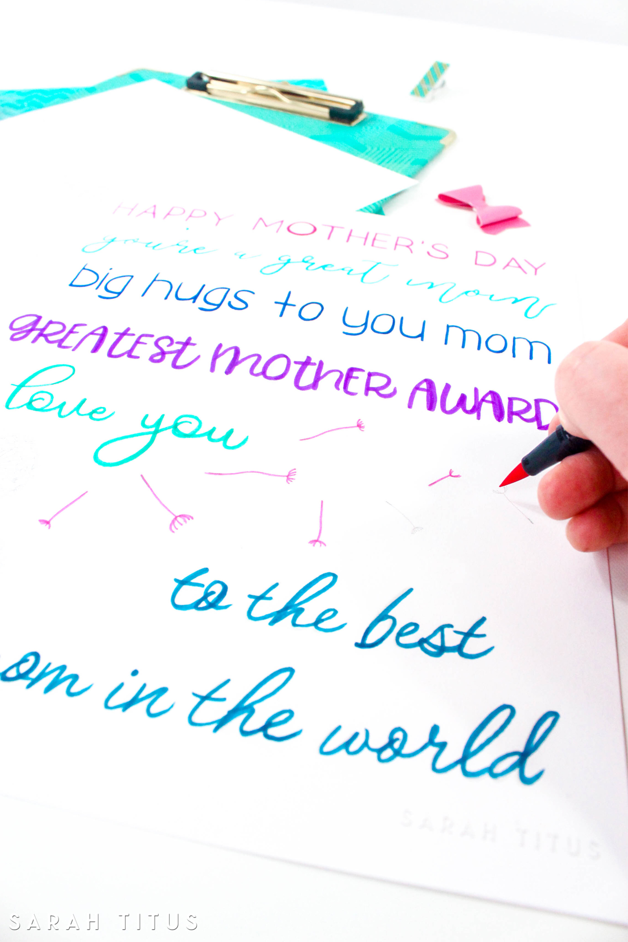Happy Mother S Day Free Hand Lettering Practice Sheet