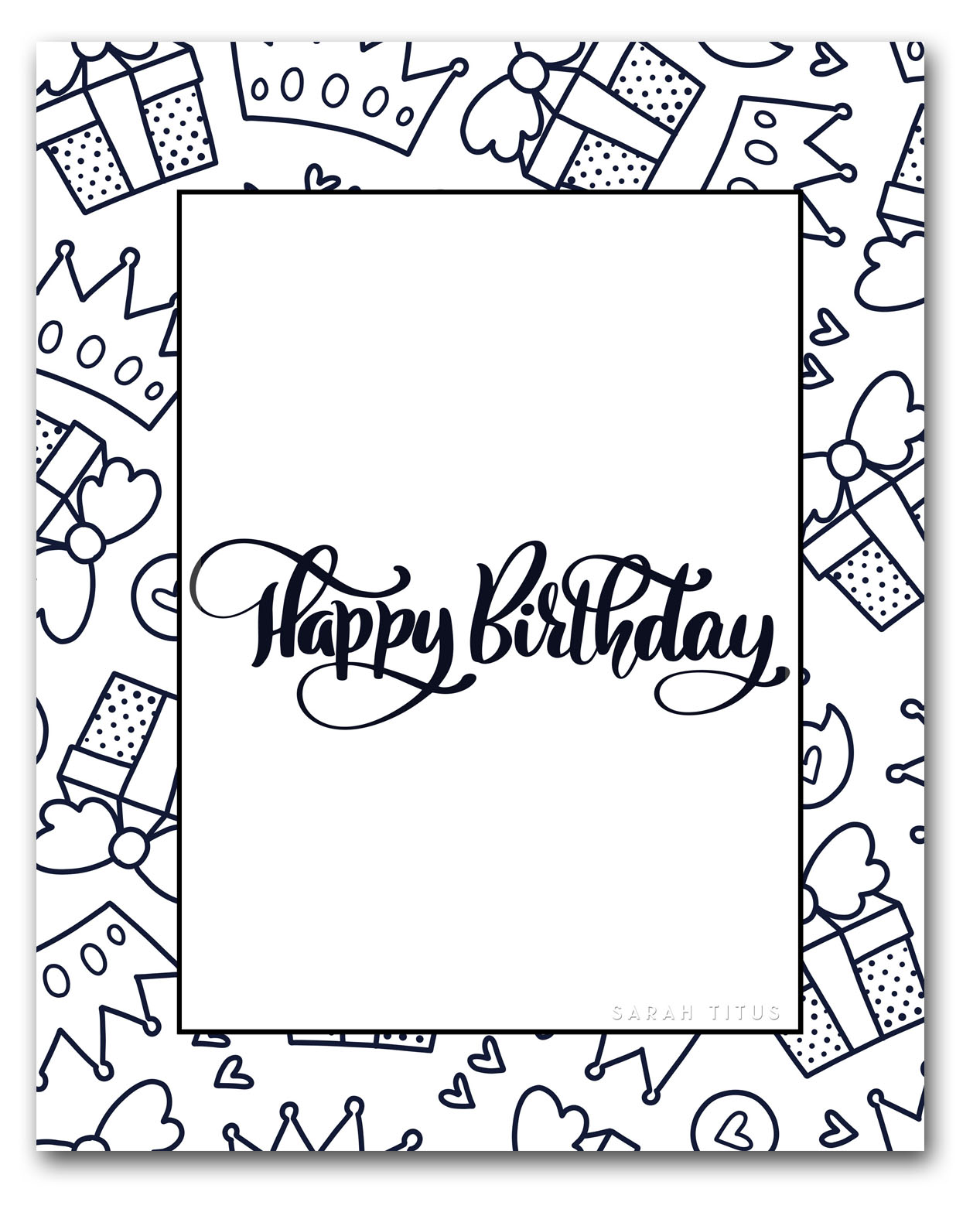 Free Printable Happy Birthday Coloring Sheets