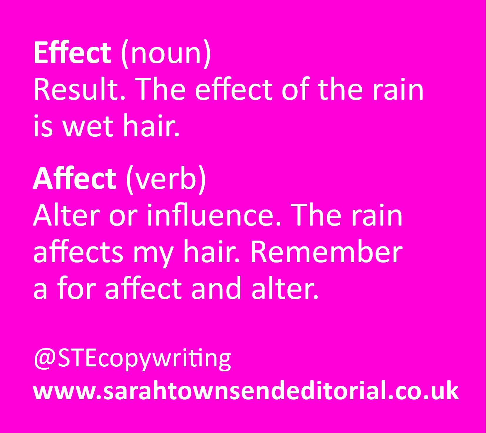 Confusables Affect Vs Effect