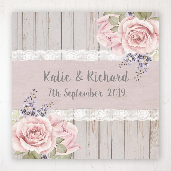 Mink Rose Wedding Invitation Sample Sarah Wants Stationery