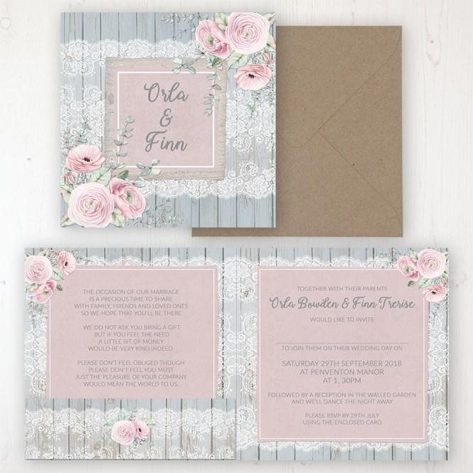 Dusty Flourish Wedding Invitations Sarah Wants Stationery