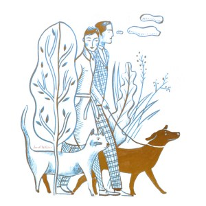 Sarah_Wilkins_illustration_illustrator_dog_walk_cat