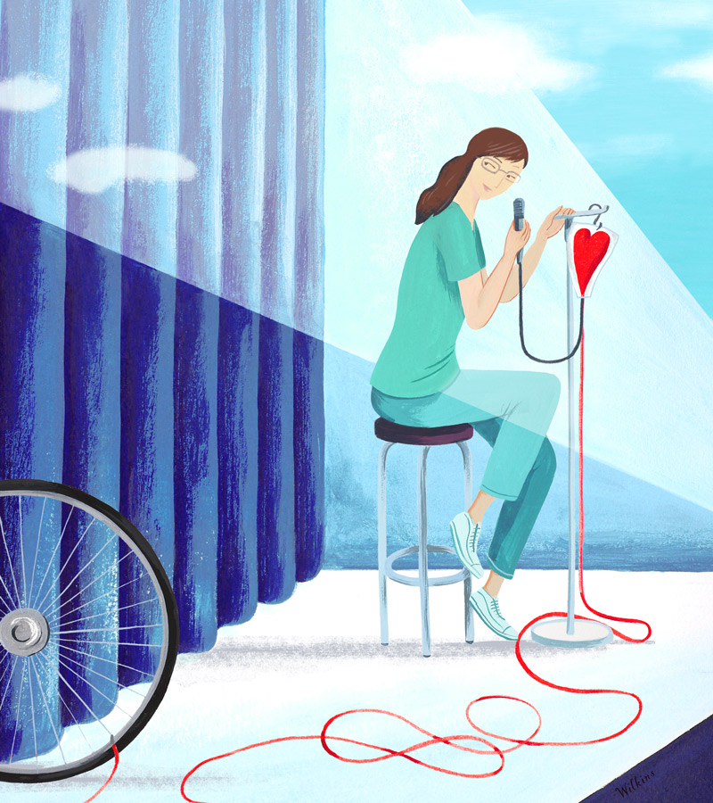 sarah_wilkins_illustration_los_angeles_times_standup_love_bike_vantenine