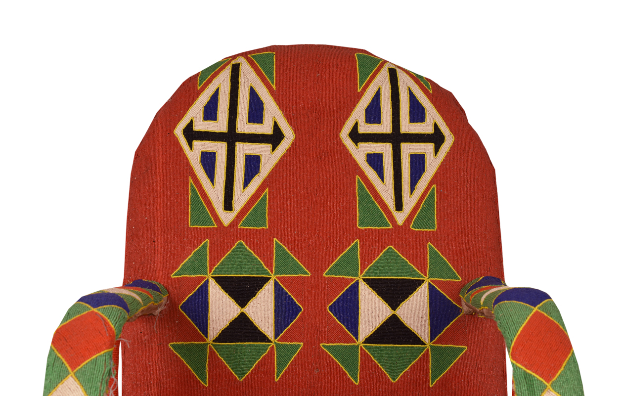Beaded Red Throne  Sarajo