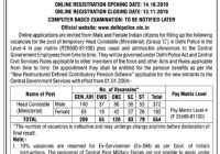 School of Open Learning (SOL) Delhi VV Recruitment, Apply Online, Last Date Oct 25 2