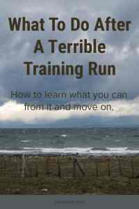 Terrible Training Run