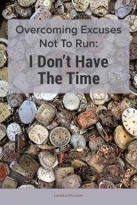 Running excuses no time