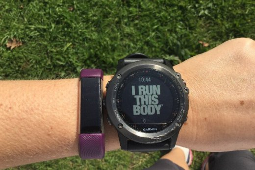 Wearing a Fitbit during marathon training