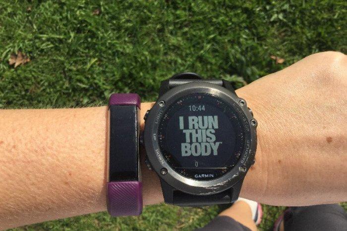 Wearing a Fitbit during marathon training