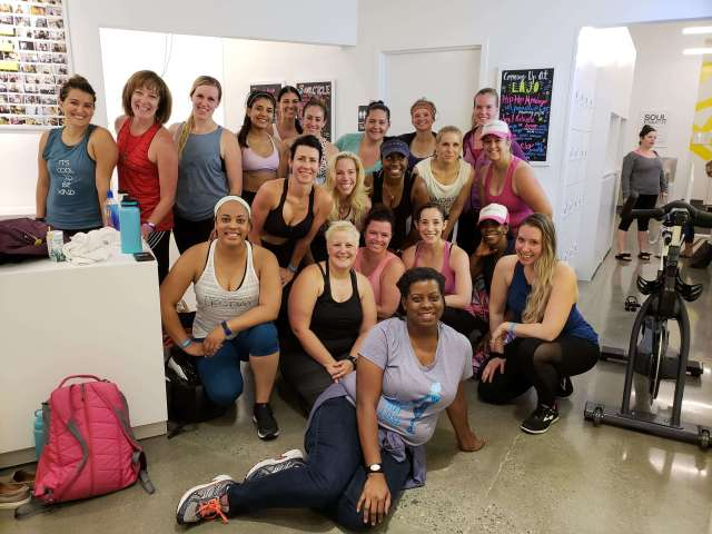 Sweat Pink At Soul Cycle