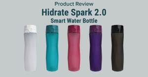 The Hidrate Spark 2.0 Smart Water Bottle Tracks your water intake and flashes as a reminder to drink