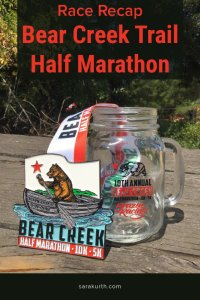 The Bear Creek Trail Half Marathon is a pretty, but super challenging, course in Briones Regional Park in Northern California