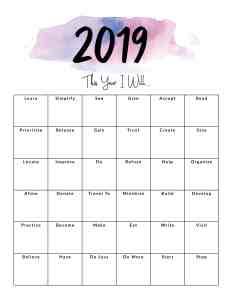 2019 Intention Planner