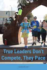 True leaders don't compete they pace