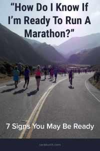 how do i know if im ready to run a marathon