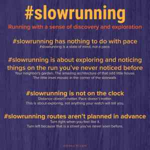 All about #slowrunning