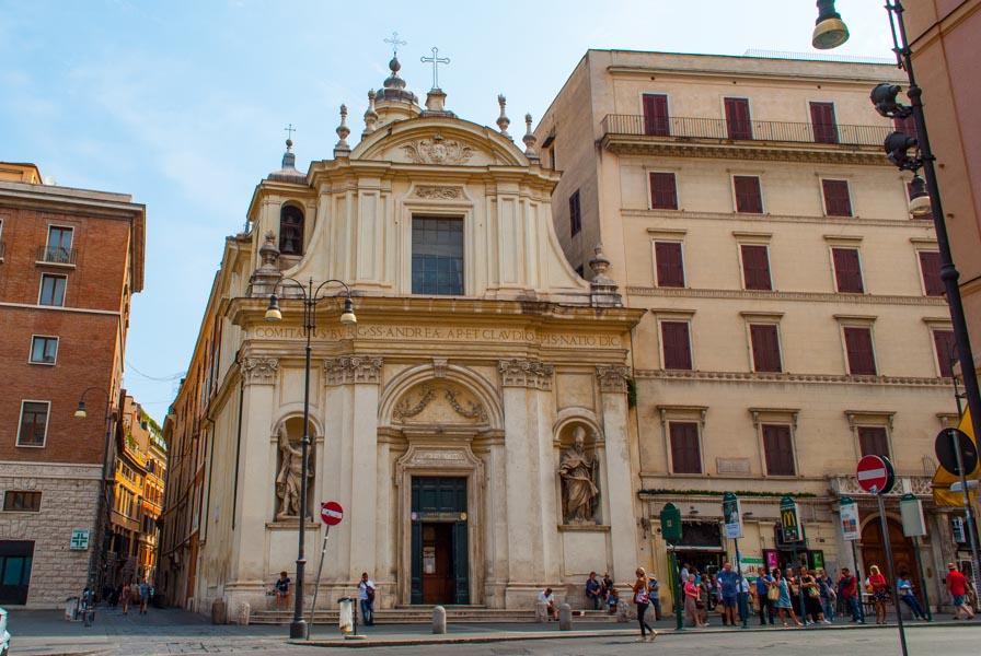 Chiesa Santi Claudio e Andrea dei Borgognoni a Roma