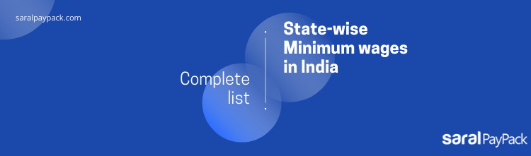 State-wise Minimum wages in India