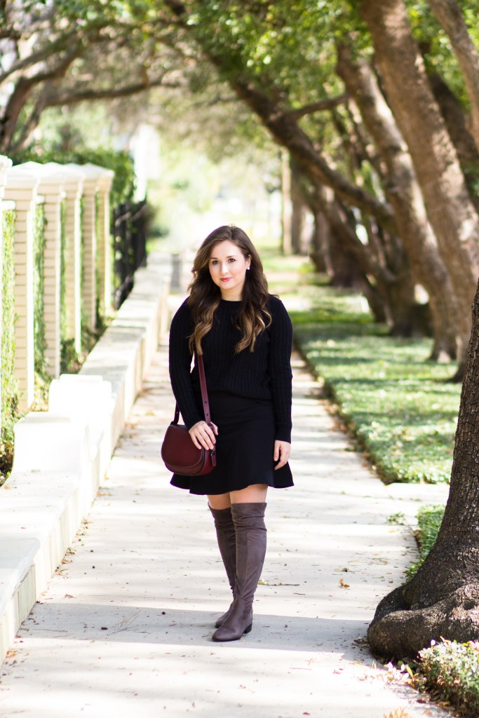Monochromatic Outfit + Over the Knee Boots