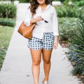 Women's Madewell Gingham Check Pull-On Shorts - Sara Magnolia