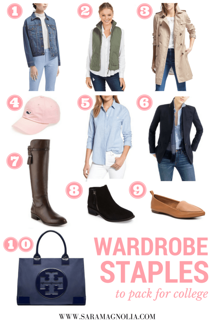 Wardrobe Staples to Pack for College