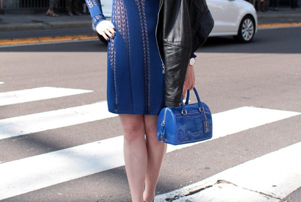 house dagmar blue dress outfit ootd dutch fashion blogger sarandaadriana milan fashion week streetstyle3
