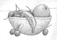 Black And White Bowl Of Fruit Or Draw Pictures to Pin on ...