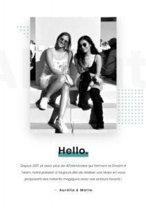 Maria Qamari e Aurelia Hanoufa (conduttrici della diretta con Toby Regbo)