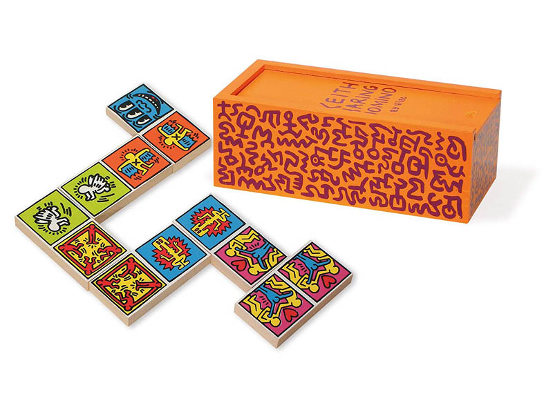 Wooden Dominos by Keith Harring