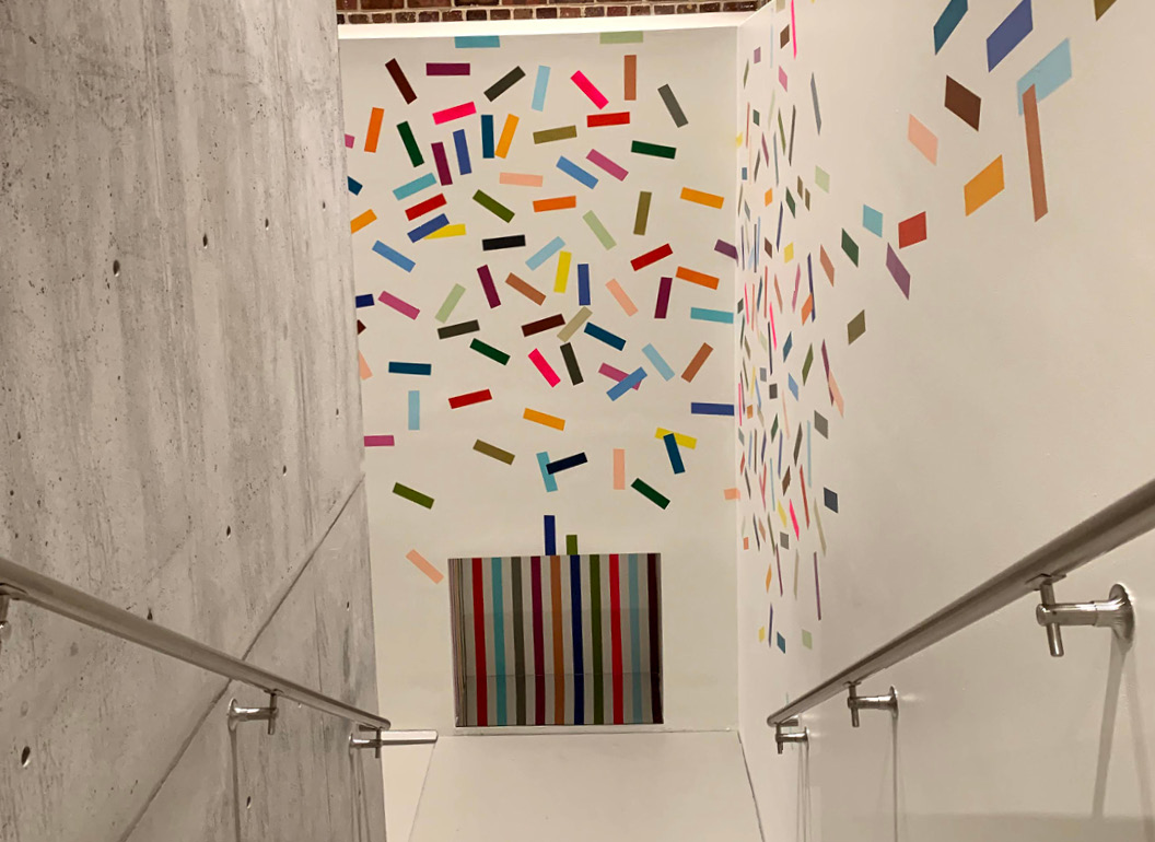 Leah Rosenberg's 28 Colors (Sarasota, FL) continues up the stairway at Sarasota Art Museum