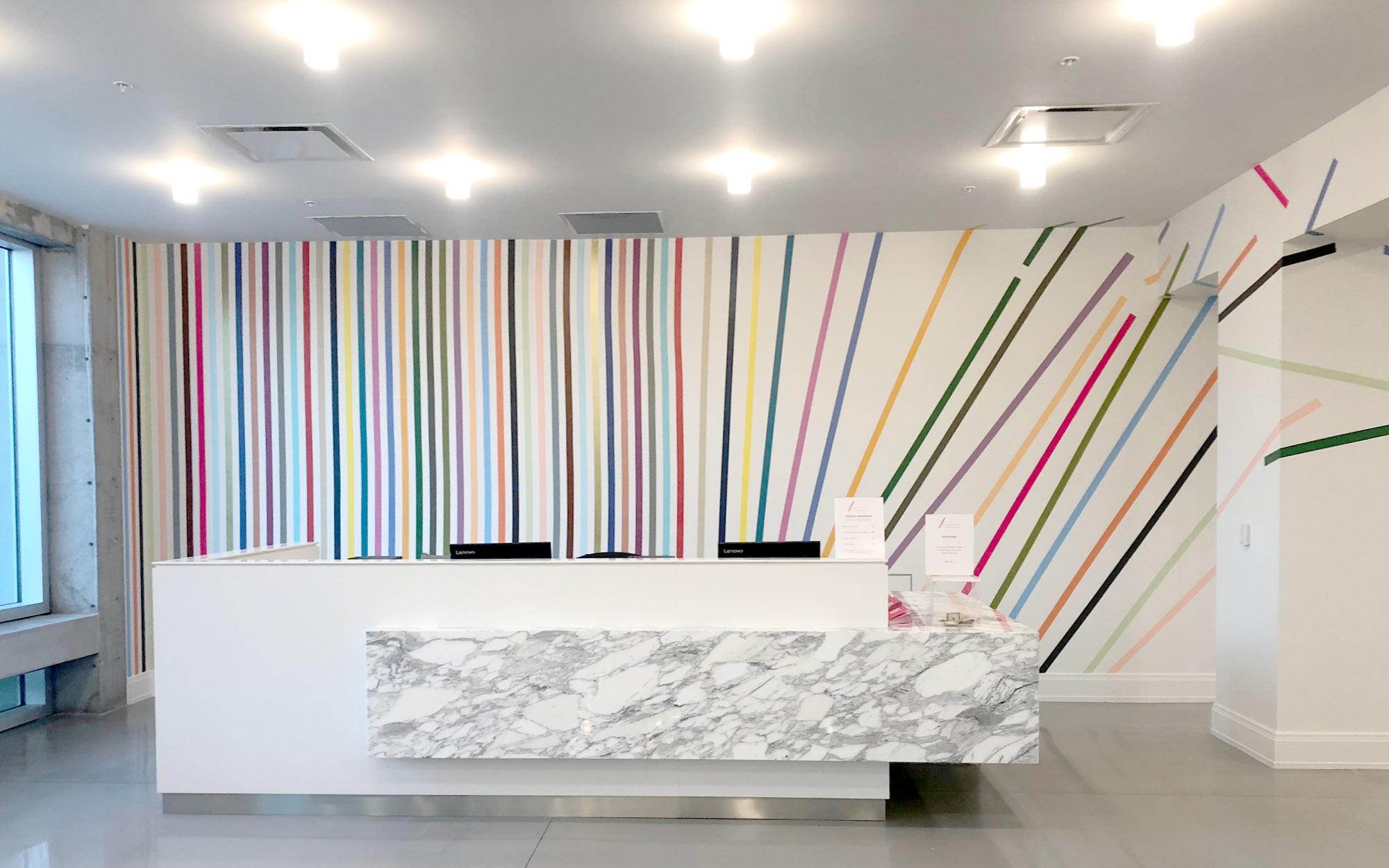 Leah Rosenberg's 28 Colors (Sarasota, FL) in the Morganthal Reception and Wendy G. Surkis & Peppi Elona Lobby at Sarasota Art Museum