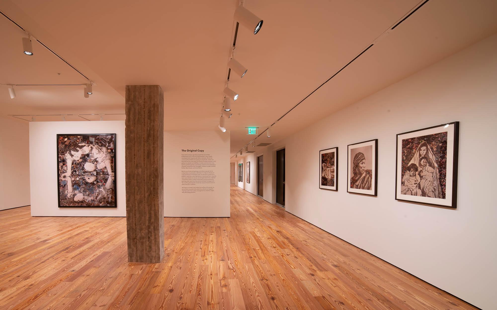 Vik Muniz exhibition, Susan M. Palmer Gallery