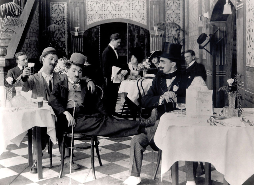 Still from Charlie Chaplin's, A Night Out (1915)