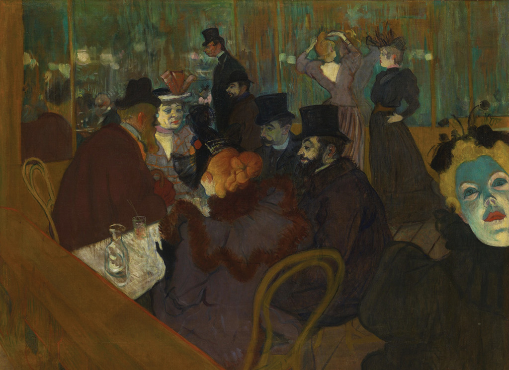 Henri Toulouse-Lautrec, At the Moulin Rouge (1892-95), Source: Art Institute of Chicago