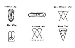 Various paperclips over time
