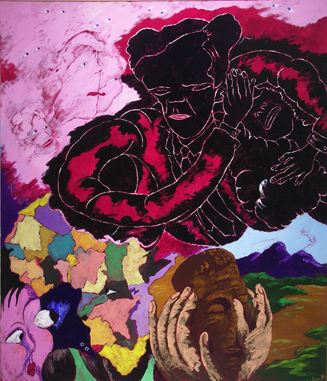 Robert Colescott, Beauty is Only Skin Deep, 1991, Acrylic on canvas, © 2021 The Robert H. Colescott Separate Property Trust / Artists Rights Society (ARS), New York Collection of The University of Arizona Museum of Art
