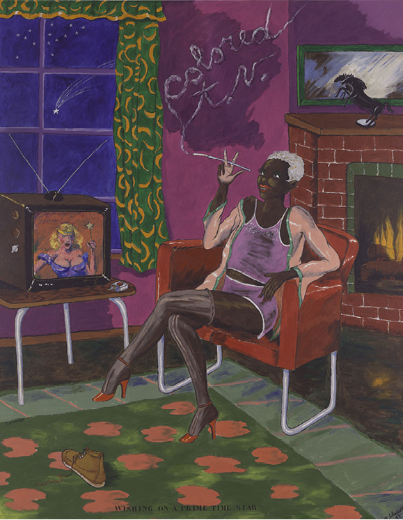 Robert Colescott, Colored T.V., 1977, Acrylic on canvas, © 2021 The Robert H. Colescott Separate Property Trust / Artists Rights Society (ARS), New York, San Francisco Museum of Modern Art