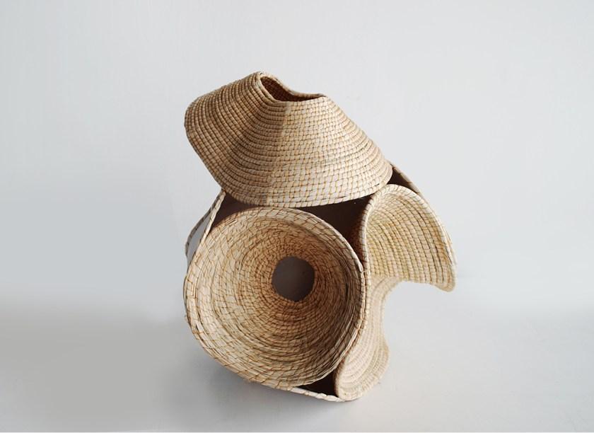 Aranda\Lasch + Terrol Dew Johnson, Wood Basket 02, 2016, Wood, yucca, sinew, 18 1/2 x 16 x 16 1/2 in., Courtesy of the artists