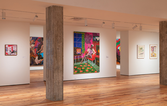 Installation view of Art and Race Matters: The Career of Robert Colescott, Photo: Ryan Gamma
