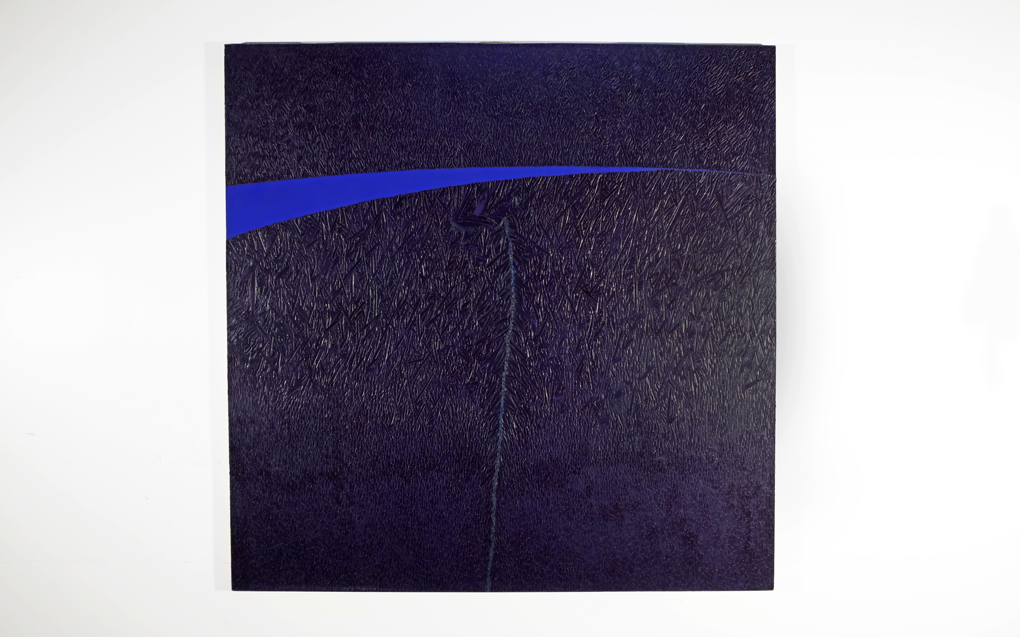 David Budd, Z-6, 1974, Oil on canvas, 72 x 72 in., Collection of Ringlijng College of Art and Design, Photo: Rich Schineller
