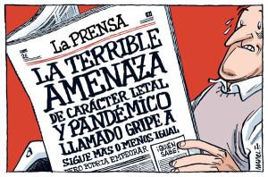 La prensa argentina ironiza sobre el caso de la 'gripe A'