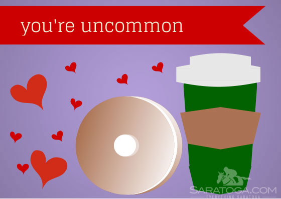 Saratoga Springs Themed Valentines Day Cards