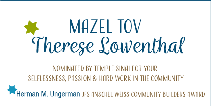 Terry Lowenthal to be honored with the JFS Mensches & Mimosas Award
