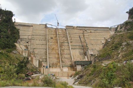 Still under construction?  Why has the inundation begun when the dam face seemed incomplete last week?